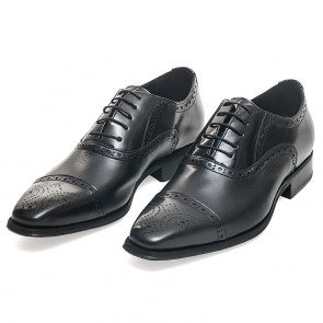 Sapato Estilo Brogue Oxford Preto