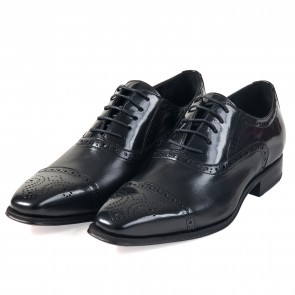 Sapato Estilo Brogue Oxford - PRETO